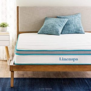 10. Linenspa 8 Inch Memory Foam and Innerspring Hybrid Mattress