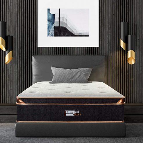 Bedstory 12 Inch Gel Memory Foam Hybrid Mattress