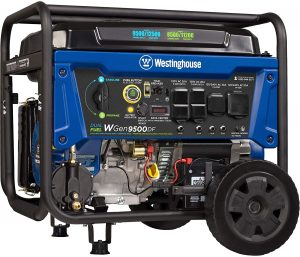 Westinghouse WGen9500DF 9500 Rated 12500 Peak Watts Portable Generator