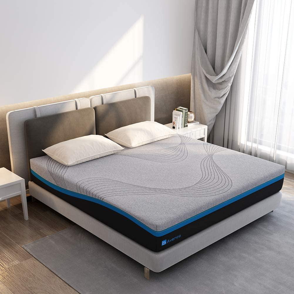 Avenco Grey Memory Foam mattress in a box