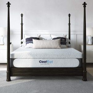 Classic Brands Cool Gel Chill Memory Foam 14-Inch Mattress with BONUS Pillow