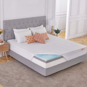 Sweetnight 4 Inch Full Size Mattress Topper with Waterproof Mattress Protector